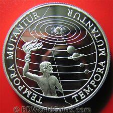 (1997-2000) KIRIBATI SAMOA $5 TALA .93oz SILVER PROOF SOLAR MILLENNIUM TEMPORA