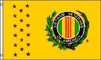 3x5 Ft Vietnam War Veterans Flag (yellow) Poly Yf