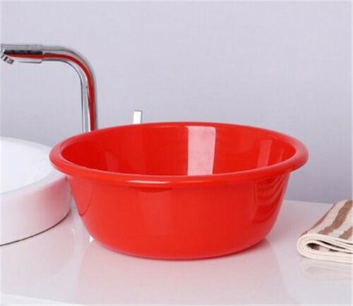 Round Plastic Wash Basin Double Thick Wash Bowl Random Color 2 size