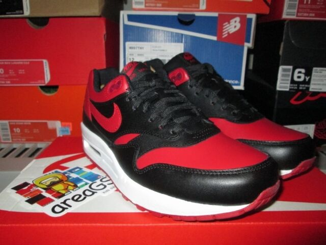 Nike Air Max 1 Premium QS Bred Valentine's Day 665873 061 SZ 6.5 DS NEW BLK RED