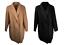 Ex M*S Double Breasted Overcoat Coat Black Camel 28