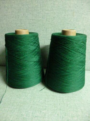 "1 kg .fil  coton mercerisé   /"" vert émeraude /"""