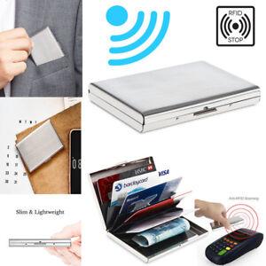 Aluminum ID Credit Card Holder IMS RFID Blocking Thin Protector Wallet Case