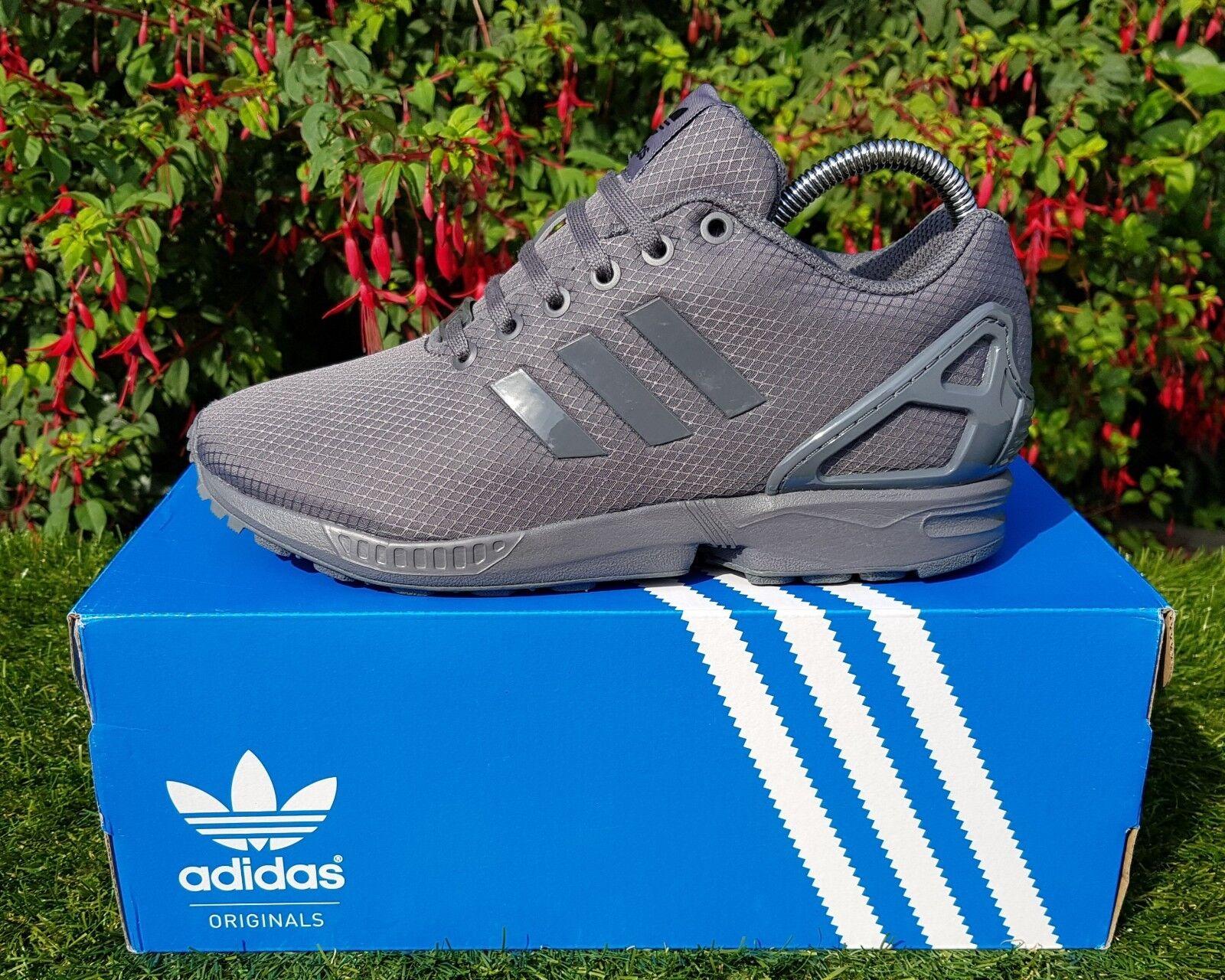 BNWB & Genuine Adidas Originals ZX Flux ® Ripstop Triple Gris Trainers UK