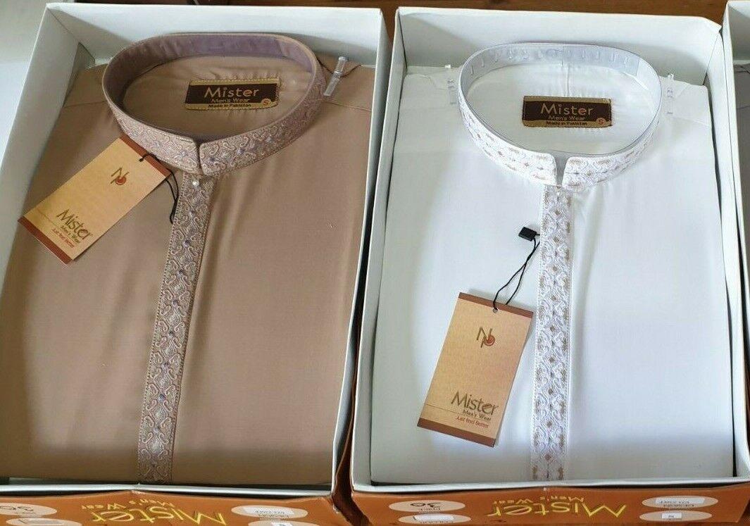 Men's Shalwar Kameez Suit Pakistan Eid Wedding Umraah Ramadan Eid (2)
