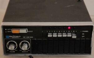 MacDonald-CE-206-Scanner-Radio-Receiver-VHF-30-50-MHz-amp-VHF-148-174-MHz-Vintage