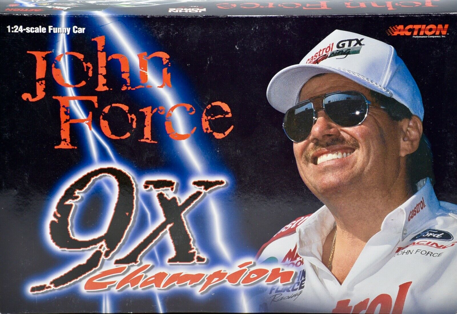 2000 Action     NHRA John Force Castrol GTX   9X Champion Funny Car -1 24 Scale b16e10
