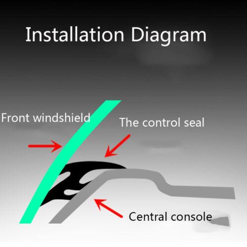 1.6m Rubber Soundproof Dustproof Sealing Strip for  Car Dashboard Windshield Top