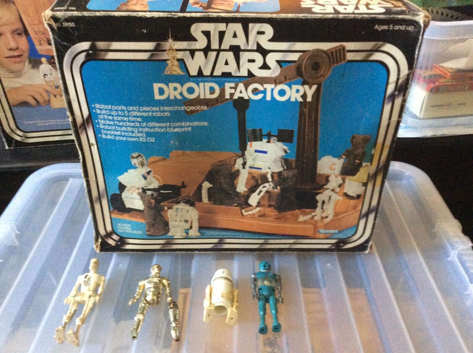 Rare Vintage Star Wars Droid Factory Playset And Four Added Droids