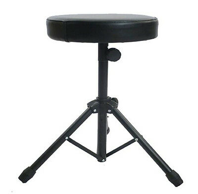 Folding Music Guitar Keyboard Drum Stool/Throne Piano Chair DOUBLE PADDED Seat