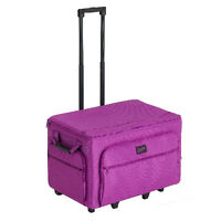 Creative Notions Xxl Sewing Machine Trolley Luggage Bag Purple