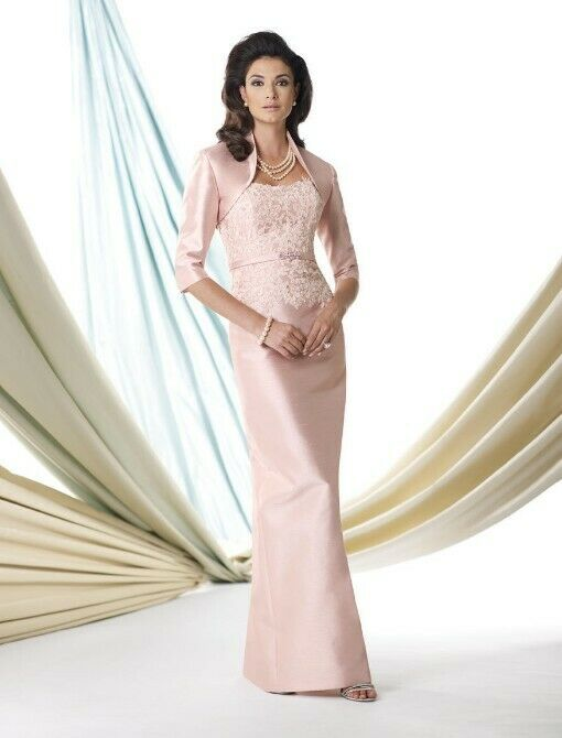Montage by Mon Cheri Elegant 2-piece mother of the bride/groom shantung dress