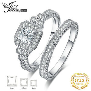 JewelryPalace-Cubic-Zirconia-Anniversary-Ring-Bridal-Sets-925-Sterling-Silver