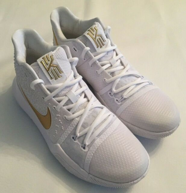 newest collection 9af63 7c8ed NEW MENS NIKE KYRIE III 3 'FINALS' WHITE/GOLD BASKETBALL SHOES 852395-902  SZ 9.5