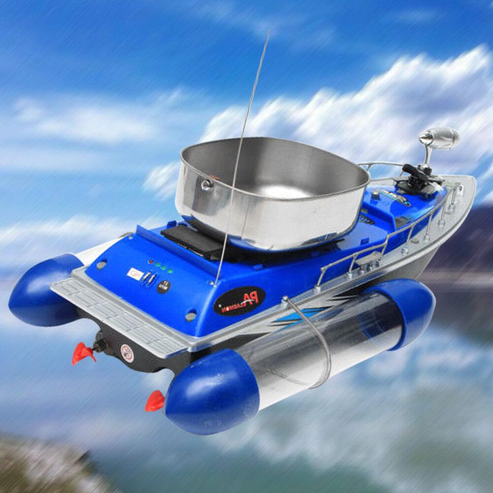 80-300m RC Schiff Fischköder Stiefel Fisch Fernbedienung Schiff RC FutterStiefel Blau DE b6d2cd