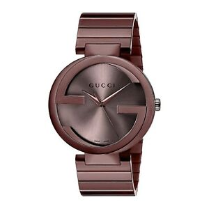 Gucci YA133211 Men's INTERLOCKING Brown Quartz Watch