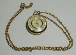 "VTG Capri Swiss Made hand winding pendant watch with 24"" chain"