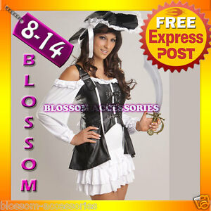 BC10-Ladies-Pirate-Fancy-Dress-Halloween-Costume-amp-Hat