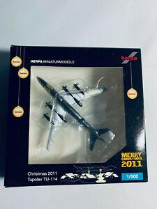 Herpa-WINGS-Tupolev-TU-114-Weihnachten-034-Christmas-2011-034-1-500-Neu-OVP