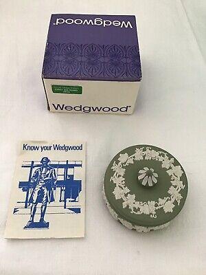 Wedgwood Jasper Candy Box Round (2632) Verde Salvia Nuovo In Scatola- Moderno Ed Elegante Nella Moda