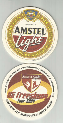 Lot Of 5  Amstel Light Beer coasters..By Amstel of Holland US Freeskiing  2004