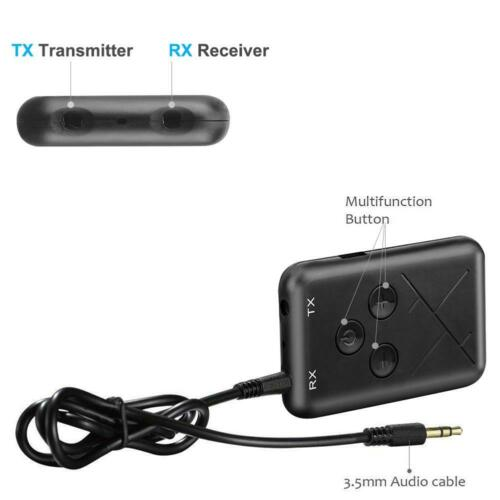 2 in 1 Wireless Bluetooth Transmitter and Receiver Stereo Audio Adapter RCA AUX
