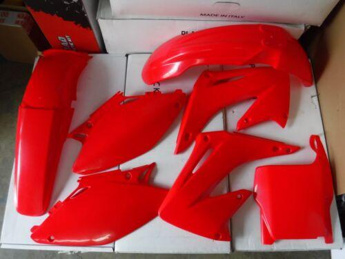 RACE TECH REPLICA  HONDA PLASTIC KIT CR125 CR250 CR125R CR250R 2004-2007 red