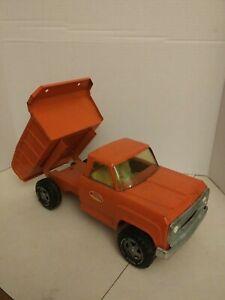 Vintage-1970-039-s-Orange-Tonka-Pressed-Steel-Dump-Truck-13190