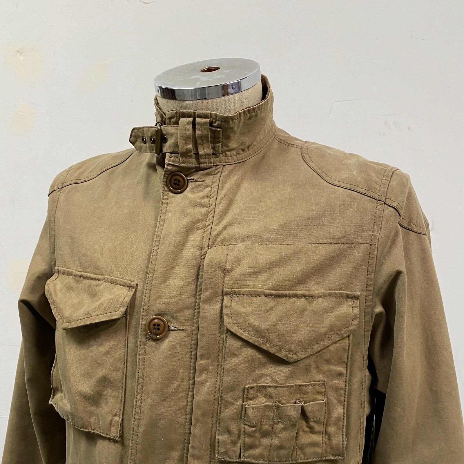 J.Crew Field Jacket Size XS Brown Wax Distressed - image 2
