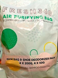 Fresh 360 charbon purificateur d'air sacs, 8-pack (4-200g/4 50 g) Bambou Anthracite Sacs
