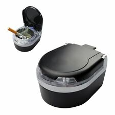 Mini Portable Car Ashtray Blue LED Light for Dashboard Cigar Cigarette Black