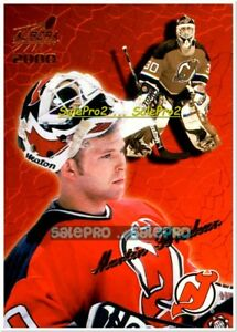 PACIFIC-AURORA-1999-MARTIN-BRODEUR-NHL-NY-DEVILS-GOALIE-BOX-TOP-BLANK-BACK-NNO