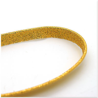 1m Gold Glitter Ribbon Trimming Sparkle Effect Lame Crafts Floral Christmas 10mm