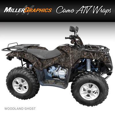 "Camo ATV Wrap /""Woodland Ghost/"" 3M Vinyl Graphic Kit for ATV 4 Wheeler"
