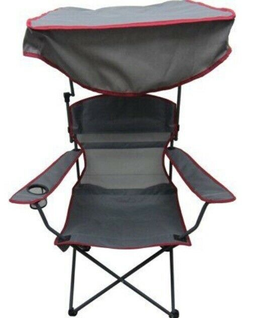 Ozark Trail Adjustable Sunshade Chair w  Carrying Bag Grey w  Red