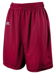 Russell-Men-039-s-Tricot-Mesh-7-034-Shorts-Nylon-Maroon-Choose-Sizes-M-L-XL-7M7AFMK