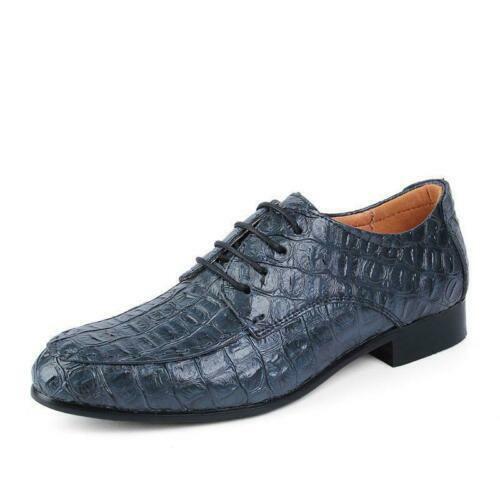 Neu Herren Me Formal Krokodil-Muster Lederschuhe Hochzeitsfeier Kleid Größe Edel