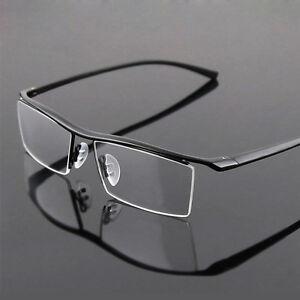 Titanium Half Rim Eyeglass Frames : Pure Titanium Mens Nickle Free Half Rim TR90 Eyeglasses ...