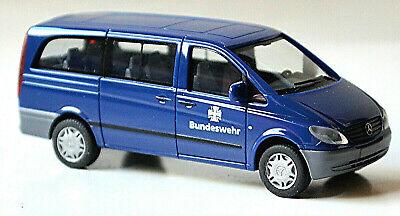 """HERPA Modell 1:87//H0 Mercedes-Benz Vito """"Polizei Saarland"""" silber #094726 NEU"""