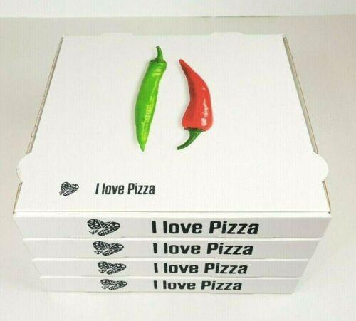 Pizzakartons Pizzaboxen 20x20x4 bis 40x40x4 cm 100/% Cellulose Motiv Peperoni