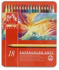 CARAN D'ache Supracolor Soft Artists Colour Pencils Set of 18