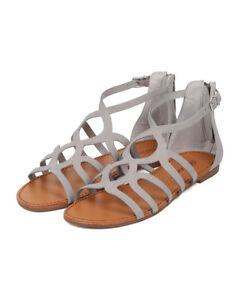 cfc30db0c28f New Women Breckelles Sara-21 Nubuck Open Toe Gladiator Flat Sandal ...