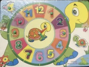 Enfant Bébé en Bois Peg Puzzle Baby Developmental jeu jouet éducatif