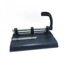 3 Hole Paper Punch By Master Products Heavy Duty Adjustable Model 1325 Black