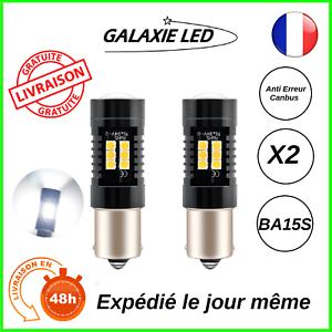 AMPOULE-LED-P21W-BA15S-BLANC-6000K-FEUX-DE-JOUR-RECUL-ANTI-ERREUR-ODB-AUTO-MOTO
