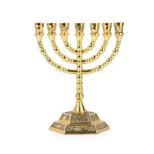 12 Tribes of Israel Menorah Jerusalem Temple 7 Branch Jewish Candle Holder 5