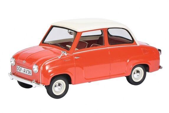 97 Goggomobil Rosso/Bianco 1:18 LIM 500, 1:18 Schuco