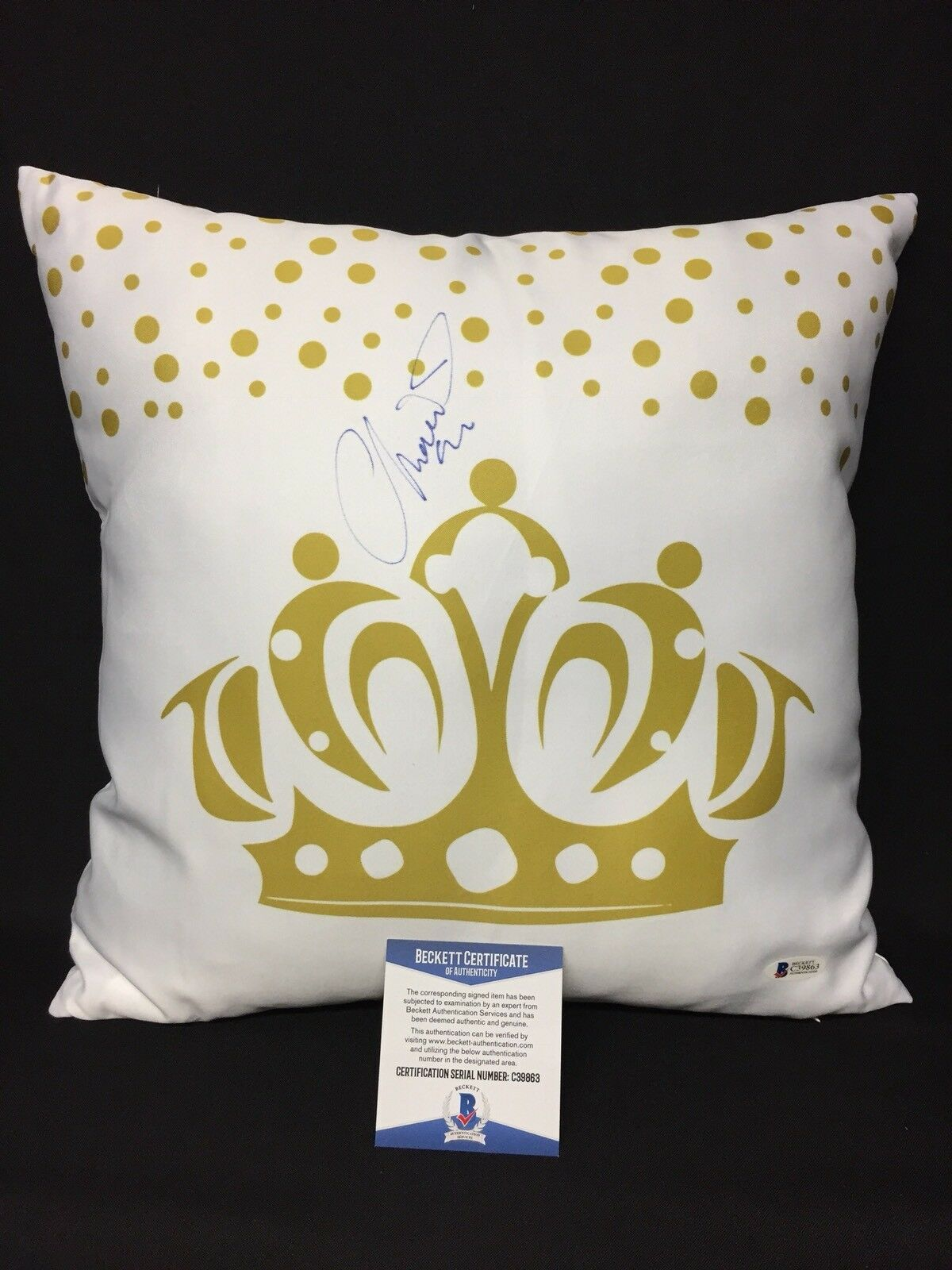 Chiquis Rivera Signed Pillow From Personal Birthday Party *Jenni Rivera BAS 9863