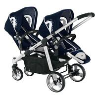 Brevi Double Pram Twin Baby Carriages Ovo Twin Colour Navy