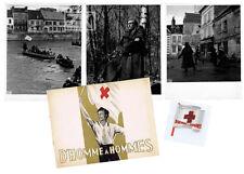 D'HOMME A HOMMES DP + 3 Phot + Doc DUNANT Suisse CROIX ROUGE Voinquel Faivre '48